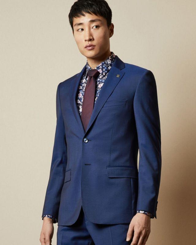 FRANCJ - Debonair slim fit wool jacket Blue