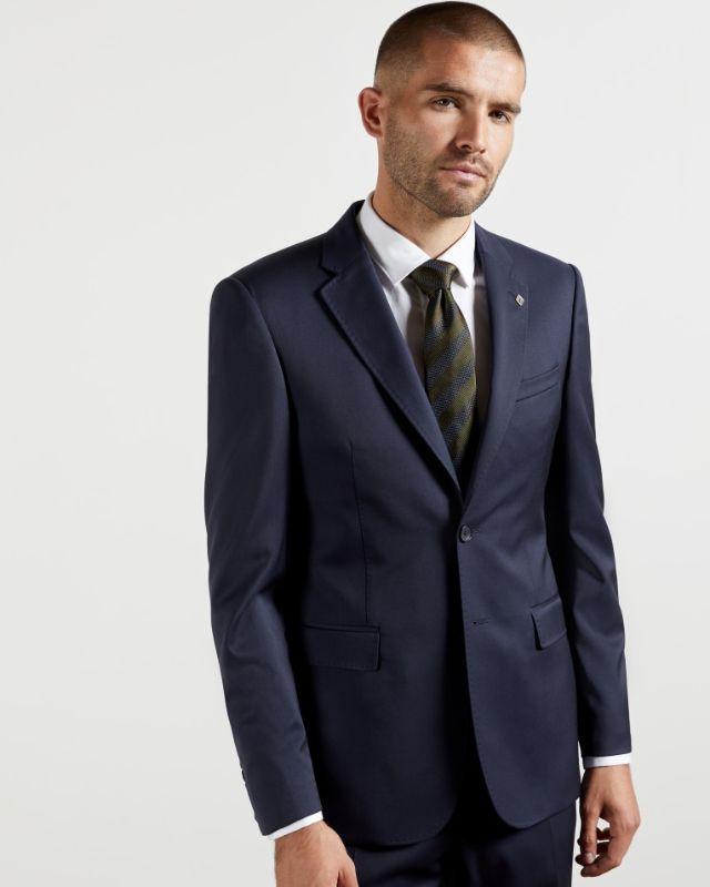 FRANFJ - Debonair twill wool suit jacket Navy