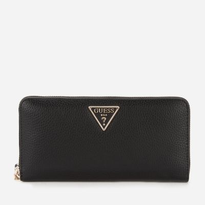 Guess Women's Becca Large Zip Around Wallet - Black