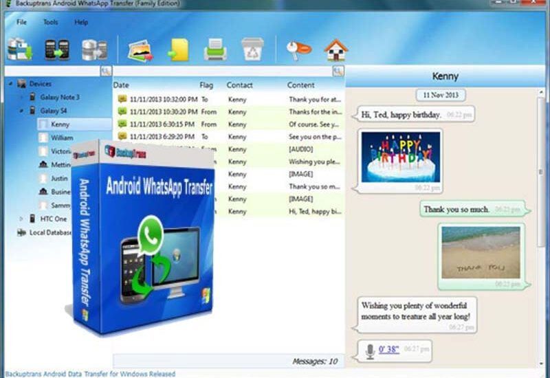 How to backup WhatsApp Messages from Android to PC