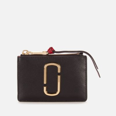 Marc Jacobs Women's Top Zip Multi Wallet – Black Chianti