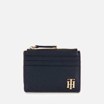 Tommy Hilfiger Women's Saffiano Credit Card Holder - Sky Captain