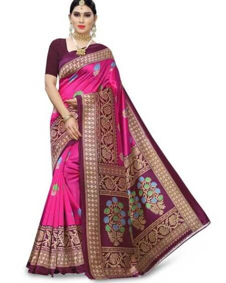APNISHA Floral Print Traditional Saree
