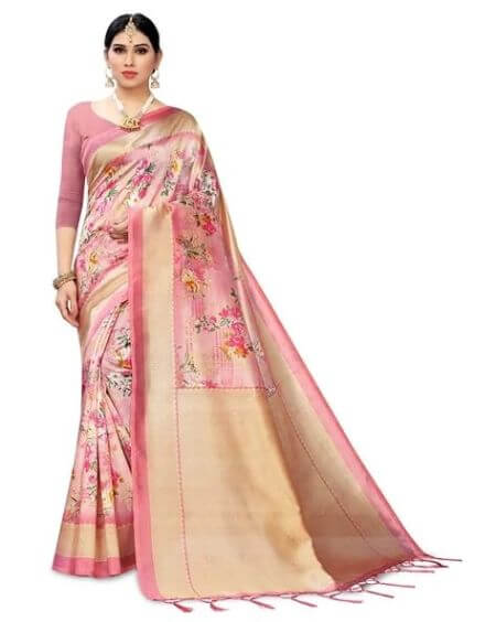 APNISHA Saree with Contrast Border