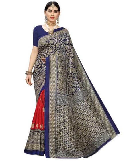 APNISHA Traditional Saree with Indian Print Detail
