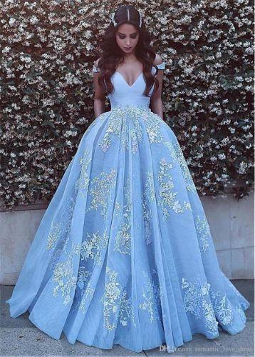 Off-the-shoulder Elegant Prom Dresses for Women V Neckline Backless Lace Appliques Tulle Bridal Ball Gowns Evening Dresses
