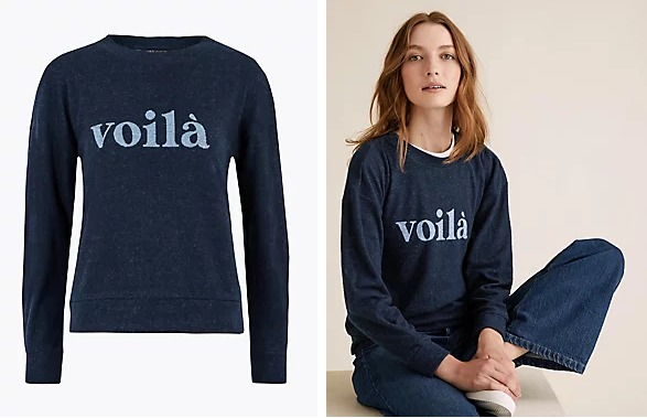 Slogan Straight Fit Sweatshirt