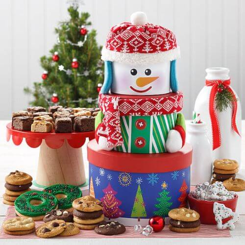 TRADITIONAL SNOWMAN COOKIE TOWER